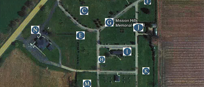 Map Of Mission Hills Memorial Gardens